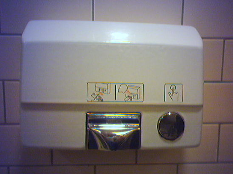 bathroom hand dryer