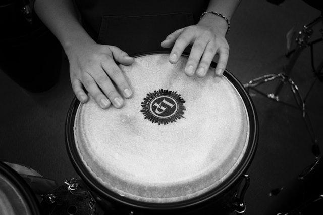 Drum mimics tympanic membrane in eardrum