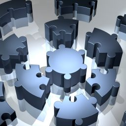 Three dimensional puzzle pieces